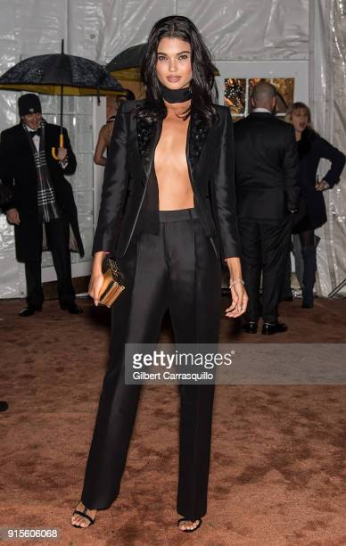 Model Daniela Braga is seen arriving to the 2018 amfAR Gala New York at Cipriani Wall Street on February 7 2018 in New York City