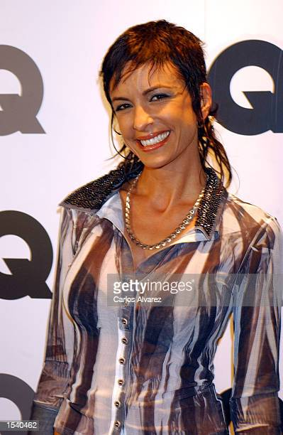 Model Daniela Cardone attends the GQ Spring/Summer 2002 fashion show party May 7 2002 in Madrid Spain
