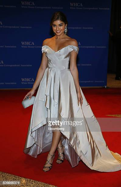Model Daniela Lopez arrives for the White House Correspondents' Association dinner in Washington DC US on Saturday April 30 2016 The 102nd WHCA...