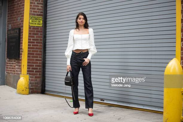 Model Daniela Lopez at the Monse show during New York Fashion Week Spring/Summer 2019 on September 7 2018 in New York City