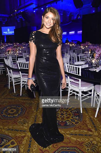 Model Daniela Lopez attends the 2016 amfAR New York Gala at Cipriani Wall Street on February 10 2016 in New York City