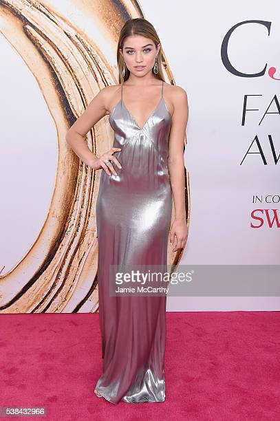 Model Daniela Lopez attends the 2016 CFDA Fashion Awards at the Hammerstein Ballroom on June 6 2016 in New York City