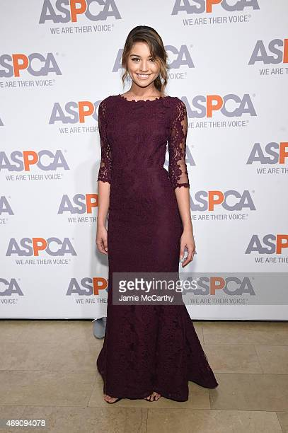 Model Daniela Lopez Osorio attends ASPCA'S 18th Annual Bergh Ball honoring Edie Falco and Hilary Swank at The Plaza Hotel on April 9 2015 in New York...