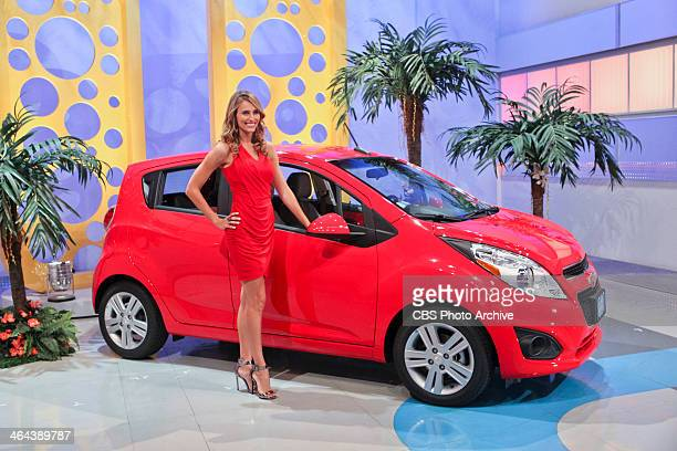 Model Danielle Demski smiles and as one lucky Trader goes for a brand new car on a special Valentines edition of LET'S MAKE A DEAL airing Friday Feb...