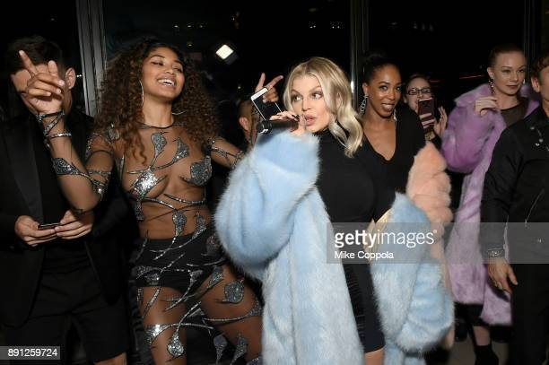Model Danielle Herrington and Fergie attend the CR Fashion Book Celebrating launch of CR Girls 2018 with Technogym at Spring Place on December 12...