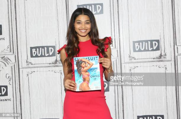 Model Danielle Herrington attends Build Series to discuss Sports Illustrated Swimsuit Issue at Build Studio on February 15 2018 in New York City
