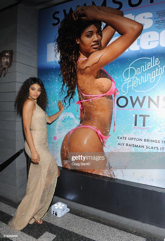 b1424a242f Model Danielle Herrington attends Sports Illustrated Swimsuit 2018 ...