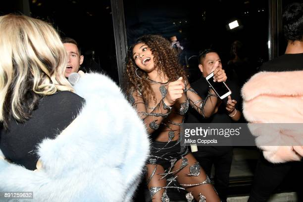Model Danielle Herrington attends the CR Fashion Book Celebrating launch of CR Girls 2018 with Technogym at Spring Place on December 12 2017 in New...