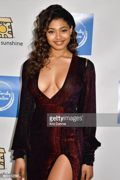 Model Danielle Herrington attends the Project Sunshine's 15th Annual Benefit Celebration at Cipriani 42nd Street on May 3 2018 in New York City