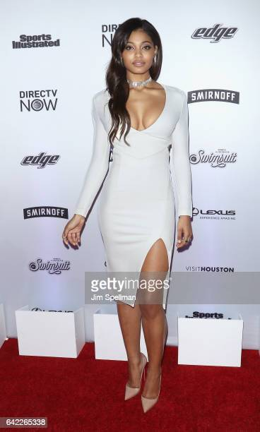 Model Danielle Herrington attends the Sports Illustrated Swimsuit 2017 launch event at Center415 Event Space on February 16 2017 in New York City