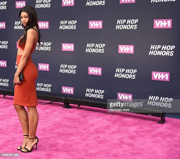Model Danielle Herrington attends the VH1 Hip Hop Honors All Hail The Queens at David Geffen Hall on July 11 2016 in New York City