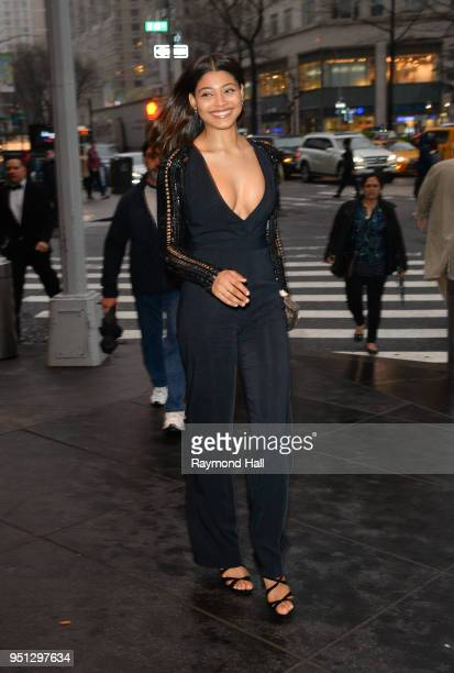 Model Danielle Herrington is seen in Midtown on April 25 2018 in New York City