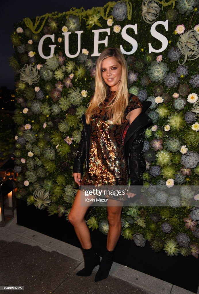 Model Danielle Knudson attends GUESS NYFW Fall Fashion Event at Public Hotel on September 13, 2017 in New York City.