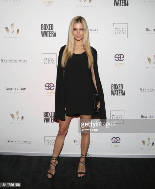 Model Danielle Knudson attends the Beauty Bar Grand Opening LA on February 23 2017 in West Hollywood California