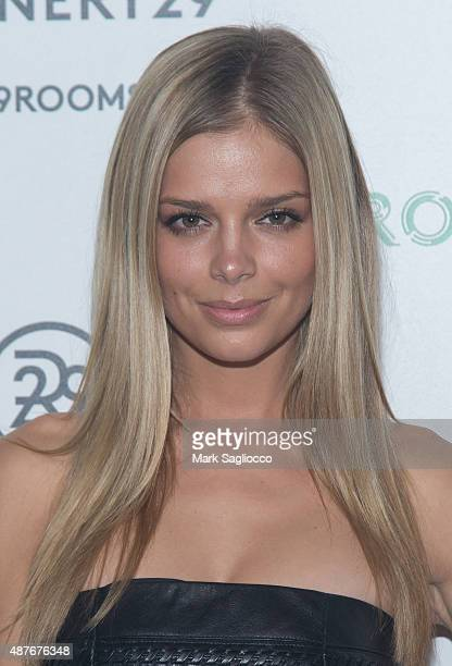 Model Danielle Knudson attends the Refinery29's 29Rooms Opening Night at 13 Huron Street on September 10 2015 in Brooklyn New York