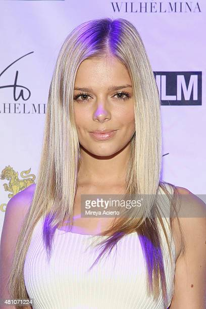 Model Danielle Knudson attends the Wilhelmina Models Men's NYFW party in celebration of the 'Wolf Pack' at Marquee on July 16 2015 in New York City