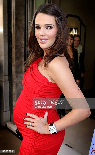 Model Danielle Lloyd arrives at the SHE Inspiring Women Awards at Claridges on May 5 2010 in London England