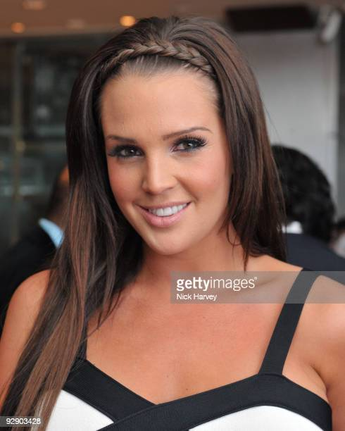 Model Danielle Lloyd attends a Japanese evening in aid of Pratham on November 8 2009 in London England