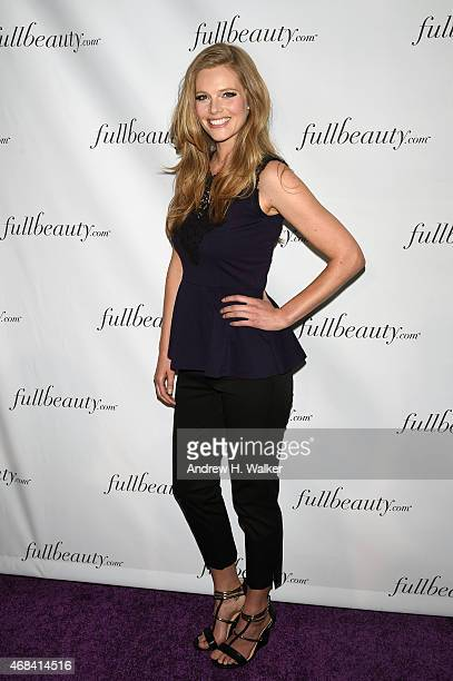 Model Danielle Redman attends FULLBEAUTY Brands' launch of fullbeautycom and Fullbeauty Magazine on April 2 2015 in New York City