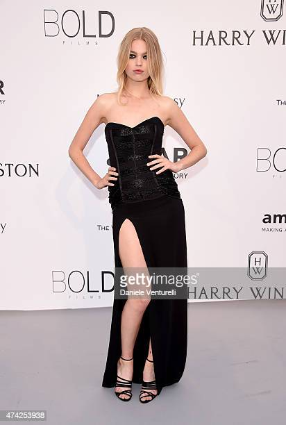 Model Daphne Groeneveld attends amfAR's 22nd Cinema Against AIDS Gala, Presented By Bold Films And Harry Winston at Hotel du Cap-Eden-Roc on May 21,...