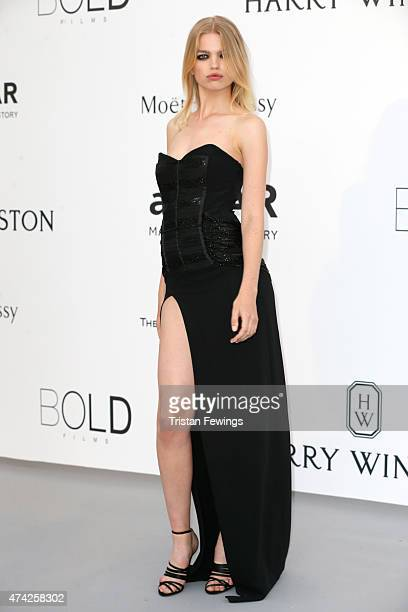 Model Daphne Groeneveld attends amfAR's 22nd Cinema Against AIDS Gala Presented By Bold Films And Harry Winston at Hotel du CapEdenRoc on May 21 2015...