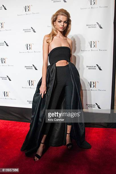 Model Daphne Groeneveld attends the 2016 American Ballet Theatre Fall Gala at the David H. Koch Theater at Lincoln Center on October 20, 2016 in New...