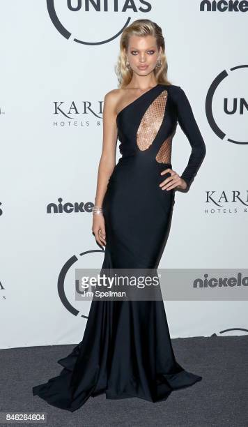 Model Daphne Groeneveld attends the 2017 Unitas Gala at Capitale on September 12 2017 in New York City