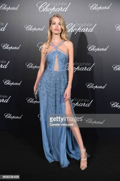 Model Daphne Groeneveld attends the Chopard Trophy during the 71st annual Cannes Film Festival at Martinez Hotel on May 14 2018 in Cannes France