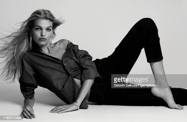 Model Daphne Groeneveld is photographed for Madame Figaro on June 16, 2018 in Paris, France. Jewelry , shirt , jeans . PUBLISHED IMAGE. CREDIT MUST...