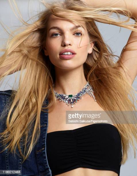 Model Daphne Groeneveld is photographed for Madame Figaro on June 16, 2018 in Paris, France. Necklace , jacket , bra . COVER IMAGE. CREDIT MUST READ:...