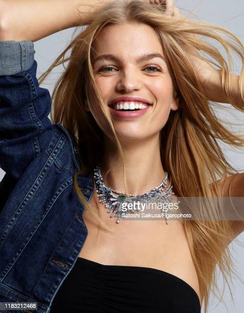 Model Daphne Groeneveld is photographed for Madame Figaro on June 16 2018 in Paris France Necklace jacket bra CREDIT MUST READ Satoshi...