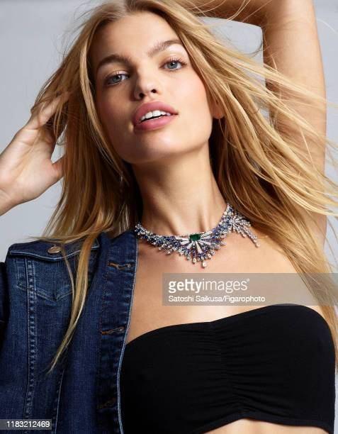 Model Daphne Groeneveld is photographed for Madame Figaro on June 16, 2018 in Paris, France. Necklace , jacket , bra . CREDIT MUST READ: Satoshi...