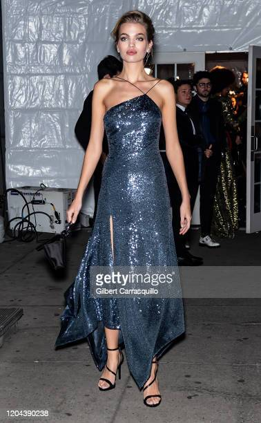 Model Daphne Groeneveld is seen arriving to the 2020 amfAR New York Gala at Cipriani Wall Street on February 05 2020 in New York City