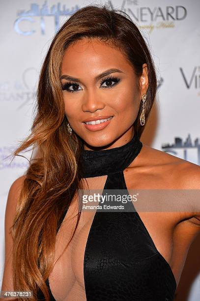 Model Daphne Joy arrives at the Fame Philanthropy PostOscar Party benefiting The Community Inspiring Today's Youth Charlize Theron Africa Outreach...