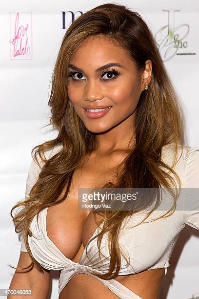 Model Daphne Joy attends the Basketball Wives LA Season Premiere Party at Allure Studios on February 17 2014 in Los Angeles California