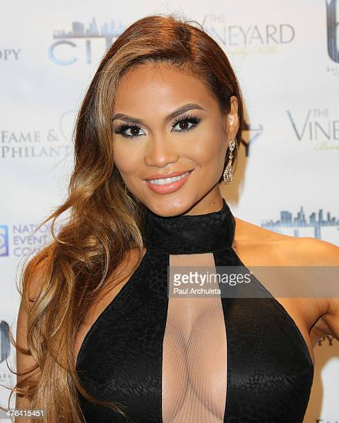 Model Daphne Joy attends the Fame And Philanthropy postOscar party at The Vineyard on March 2 2014 in Beverly Hills California