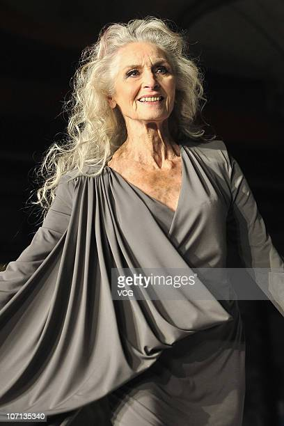 Model Daphne Selfe attends the PG Beauty And Grooming gala event at the Traders Hotel on November 24 2010 in Beijing China