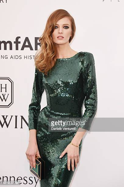 Model Daria Strokous attends amfAR's 22nd Cinema Against AIDS Gala Presented By Bold Films And Harry Winston at Hotel du CapEdenRoc on May 21 2015 in...