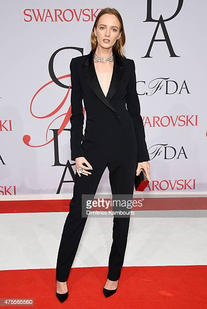 Model Daria Strokous attends the 2015 CFDA Fashion Awards at Alice Tully Hall at Lincoln Center on June 1 2015 in New York City