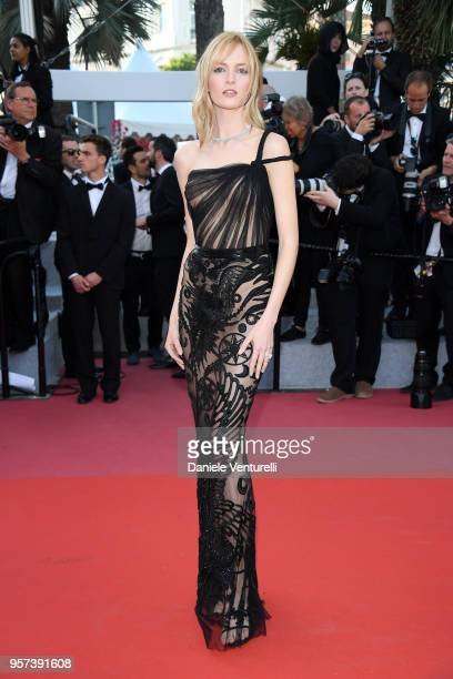 Model Daria Strokous attends the screening of 'Ash Is The Purest White ' during the 71st annual Cannes Film Festival at Palais des Festivals on May...