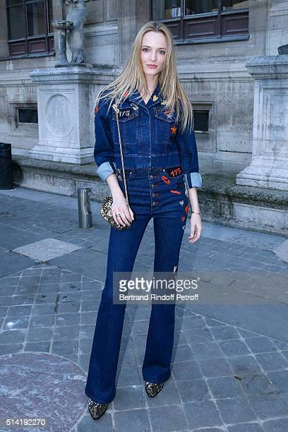 Model Daria Strokous attends the Sonia Rykiel show as part of the Paris Fashion Week Womenswear Fall/Winter 2016/2017 on March 7 2016 in Paris France