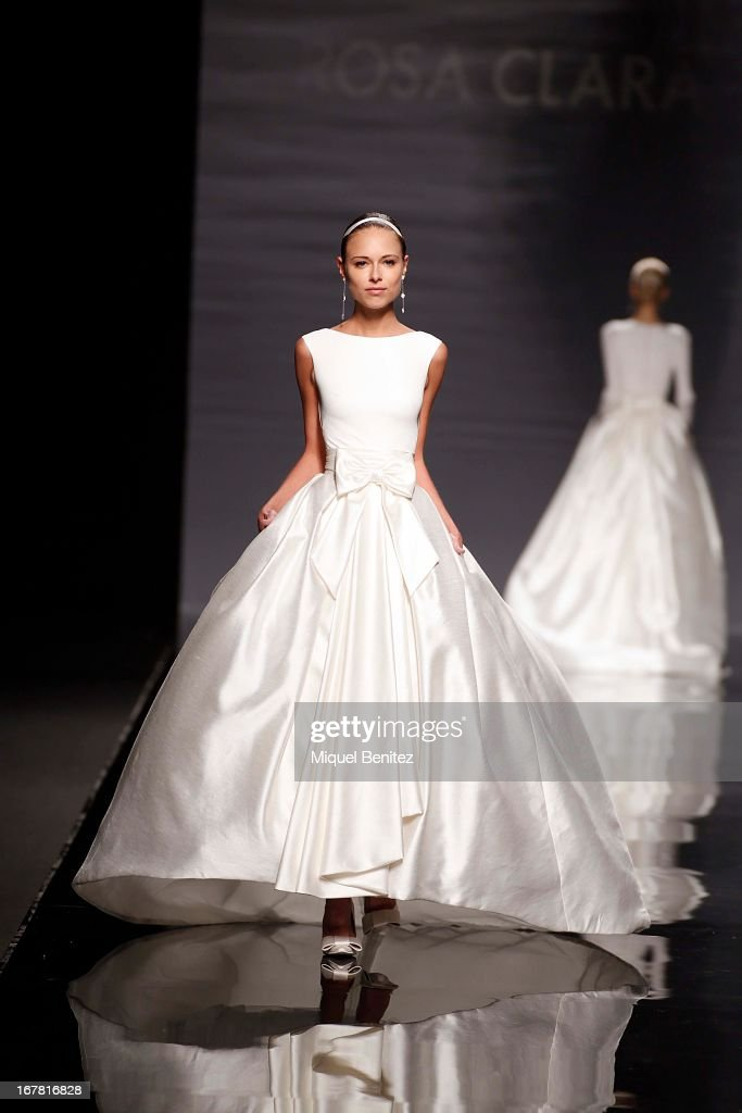 Model Dasha Kapustina walks the runway during the Rosa Clara collection at the Barcelona Bridal Week 2013 on April 30, 2013 in Barcelona, Spain.