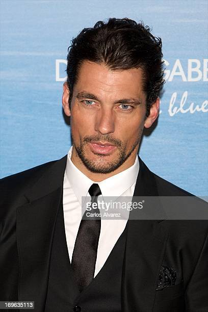 Model David Gandy attends Mediterranean Summer Cocktail By Dolce & Gabbana at the Santo Mauro Hotel on May 29, 2013 in Madrid, Spain.