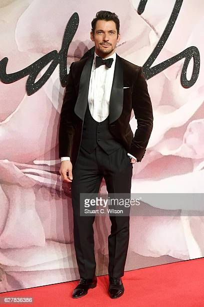 Model David Gandy attends The Fashion Awards 2016 on December 5 2016 in London United Kingdom