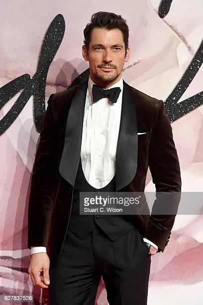 Model David Gandy attends The Fashion Awards 2016 on December 5, 2016 in London, United Kingdom.