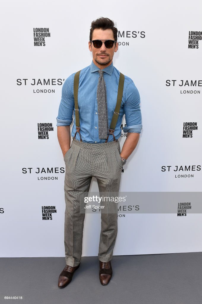 Model David Gandy attends the St James's show during London Fashion Week Men's June 2017 collections on June 10, 2017 in London, England.