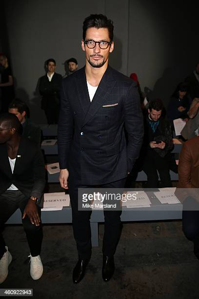 Model David Gandy attends the Topman Design show during The London Collections: Men Autumn/Winter 2014 on January 6, 2014 in London, England.