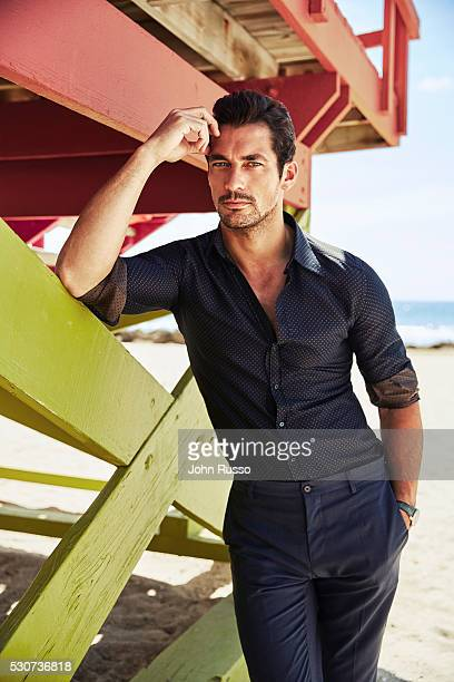 Model David Gandy is photographed for Esquire Latin America on July 1, 2015 in Miami, Florida.