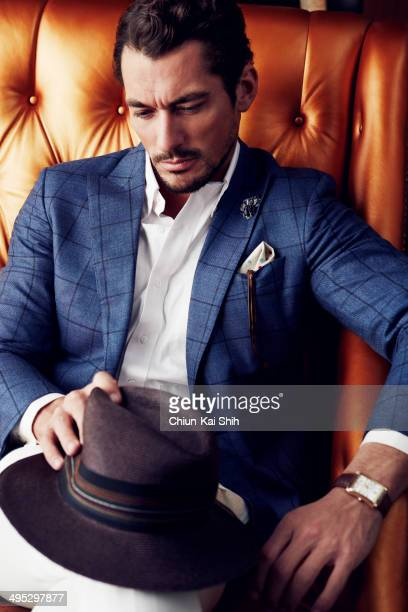 Model David Gandy is photographed for GQ Taiwan on February 1, 2014 in New York City. PUBLISHED IMAGE.