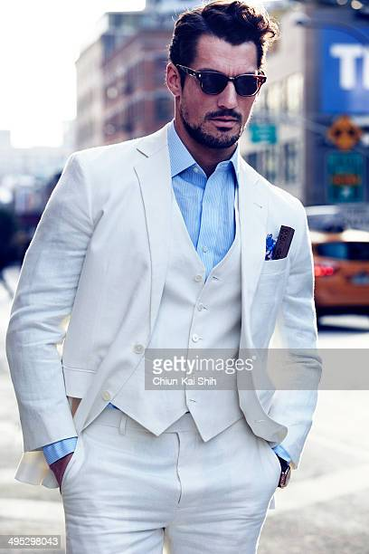 Model David Gandy is photographed for GQ Taiwan on February 1 2014 in New York City
